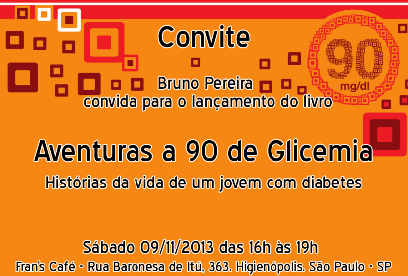 Convite - Aventuras a 90 de Glicemia